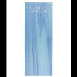 """Forever 21 Blue """"Fall in Love with Life"""" Yoga Mat"""